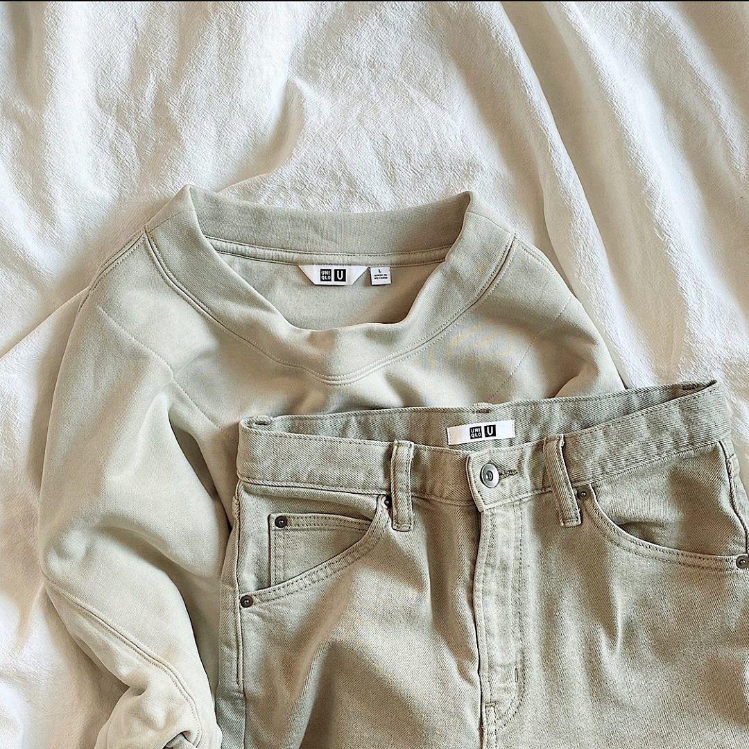 □スウェットボクシークルーネックシャツ