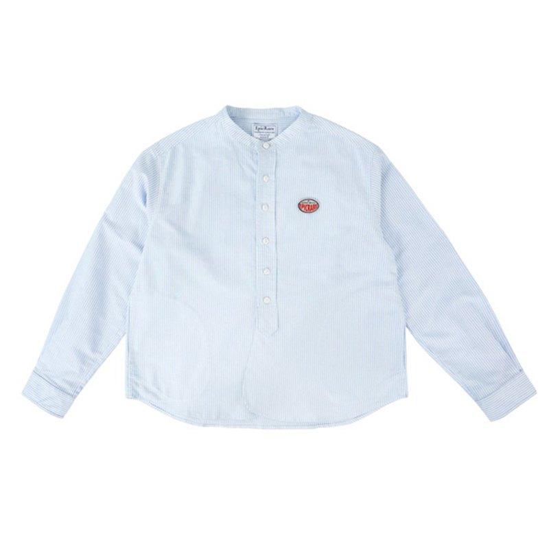 retro long-sleeved shirt loose stripes