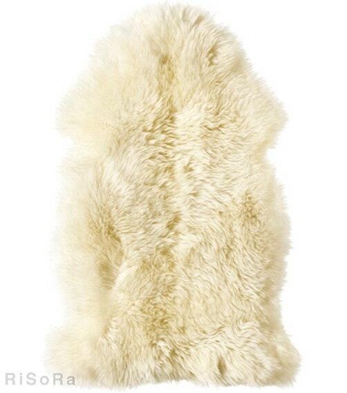 IKEA LUDDE 羊皮 ラグ