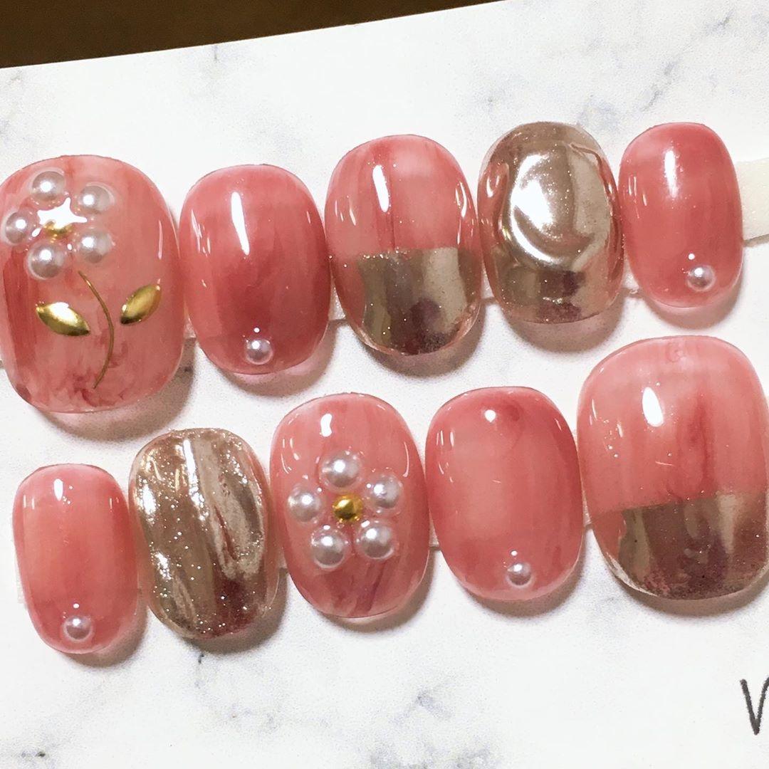 色味やモチーフにこだわって。春にぴったりなピンクネイルデザイン&ポリッシュに注目