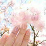 """指先でお花見ができちゃうかも!?季節にぴったりの""""桜ネイル""""で華やかな雰囲気に"""