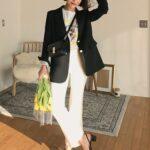 オフィスカジュアルにも、おフェロなデート服にも♡春に万能、白パンツ活用コーデ13選