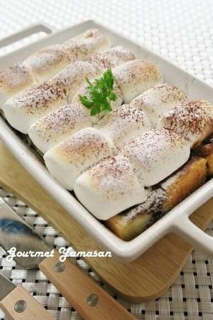 トースターdeチョコマシュマロのフレンチトースト