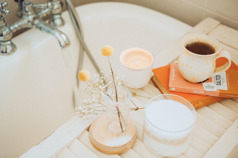 半身浴で汗をかいてむくみ対策