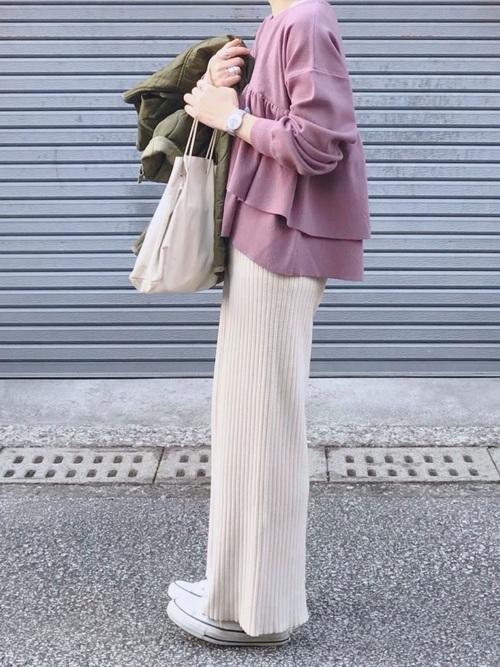 ファッション|パープルを主役アイテムに