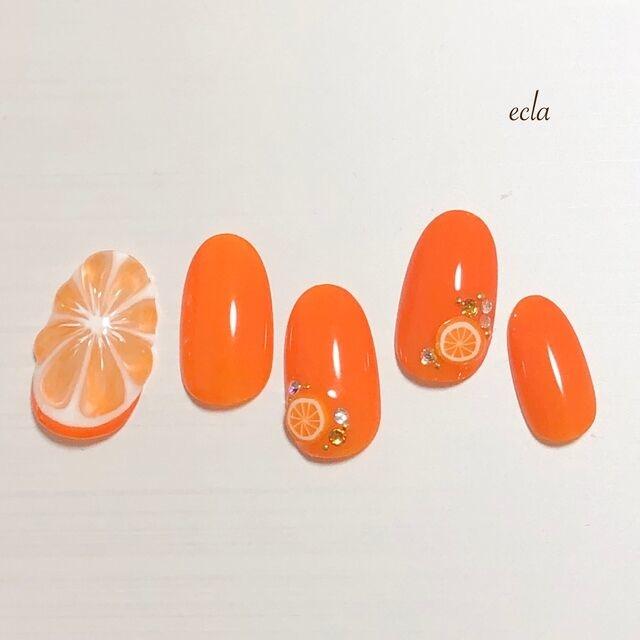 フルーツが可愛いビタミンカラーネイルに挑戦