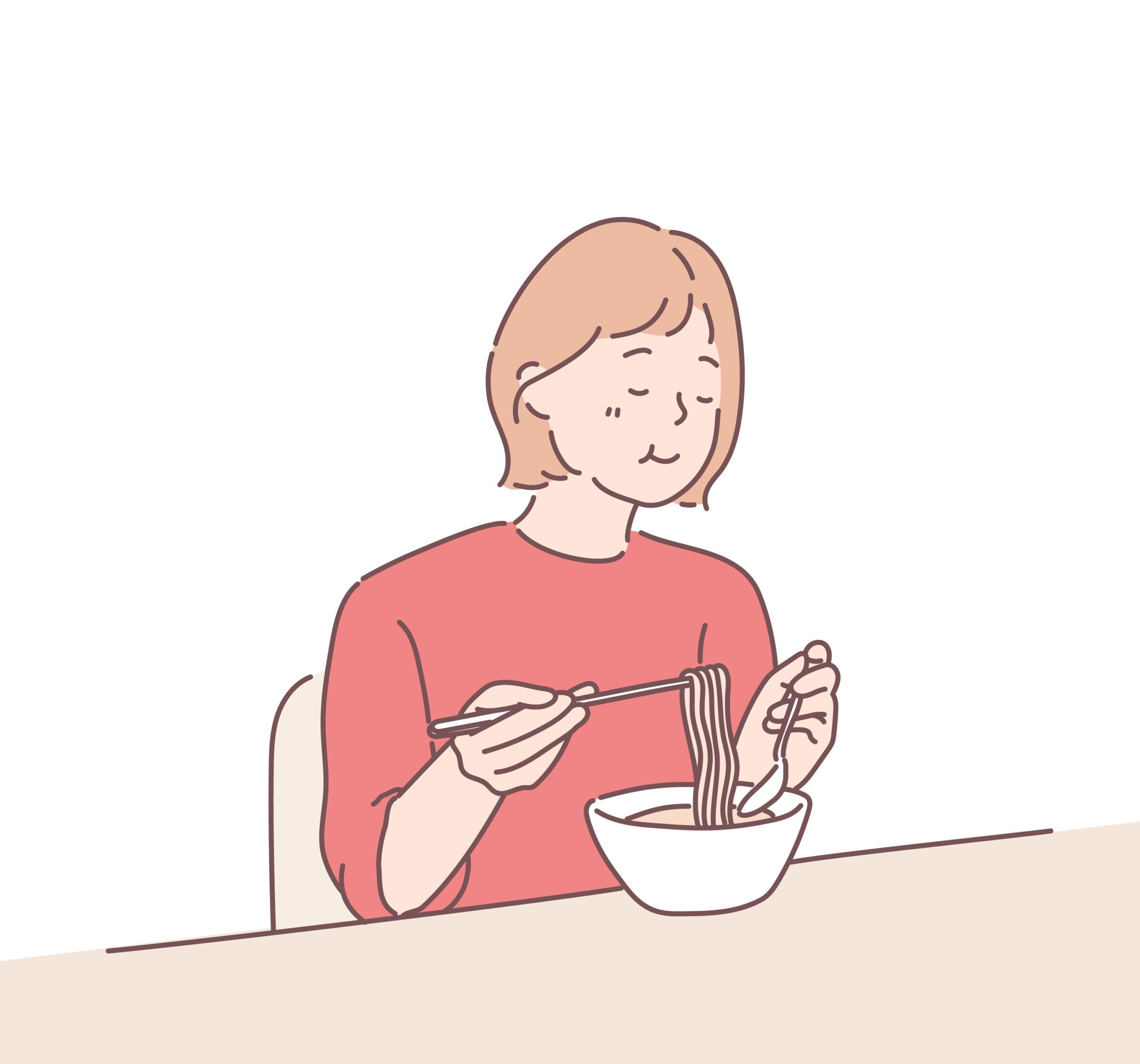 食べながら話す