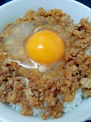 朝ごはんレシピ☆鶏そぼろたっぷり☆たまごかけご飯