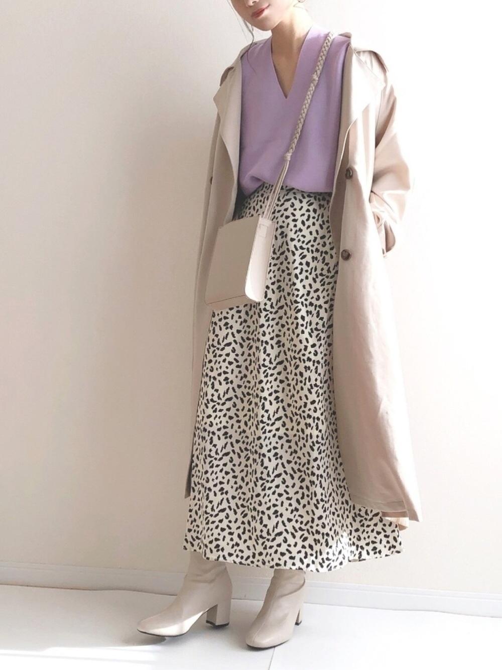 ダルメシアン柄フレアスカート ¥2,299