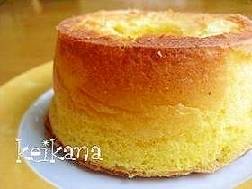 ホットケーキミックスで簡単シフォンケーキ