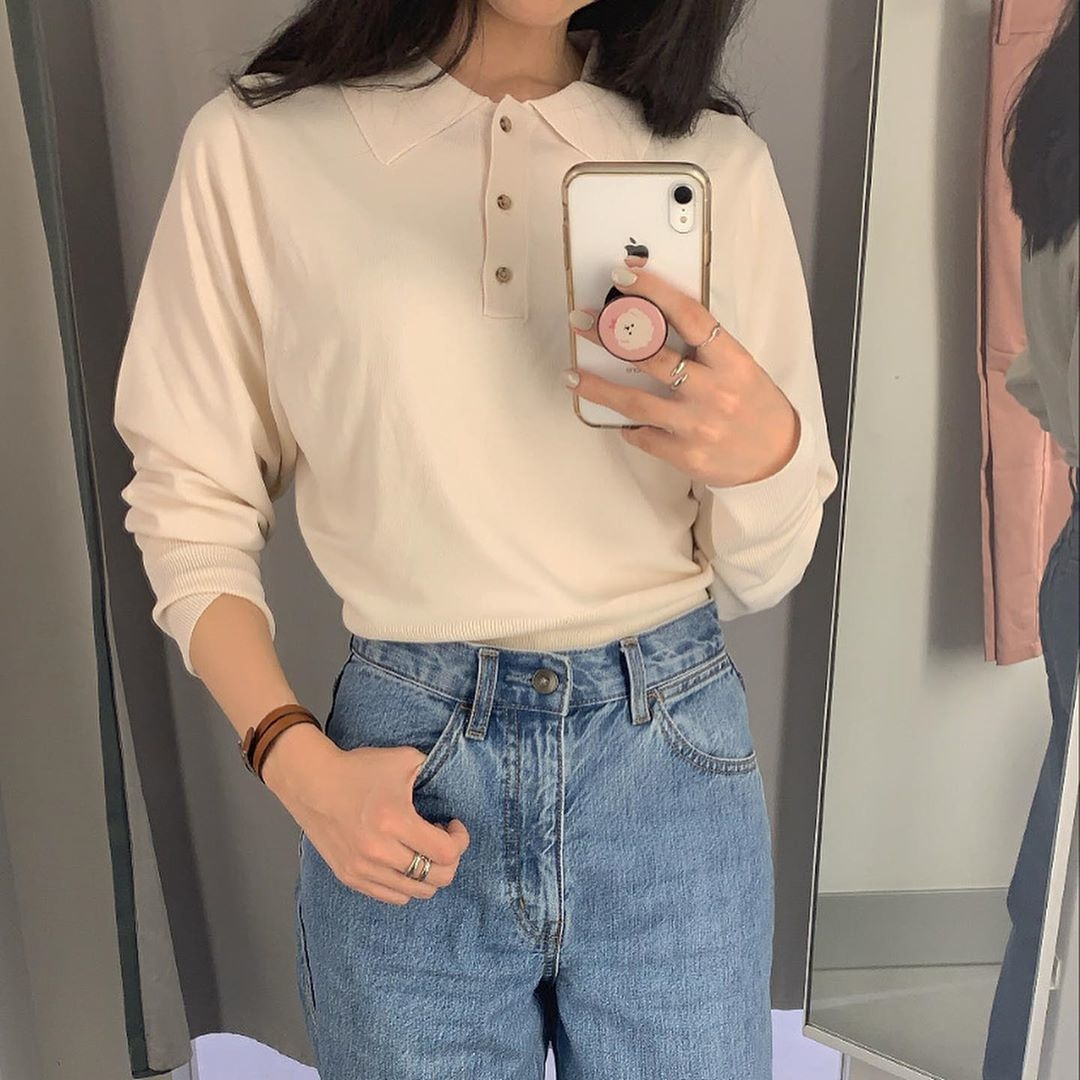 □ニットポロシャツ