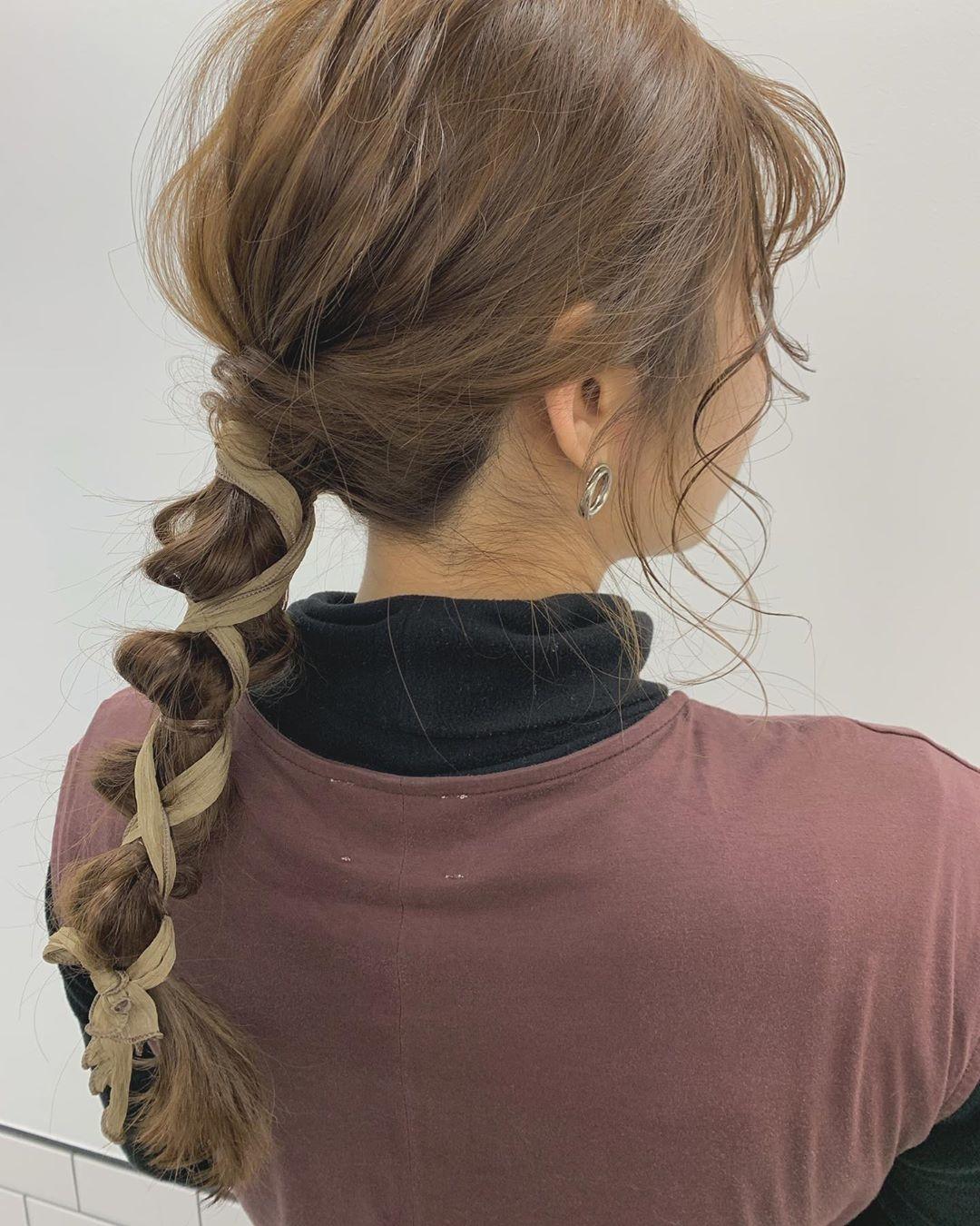 編み下しヘアの最新版をプチプラで