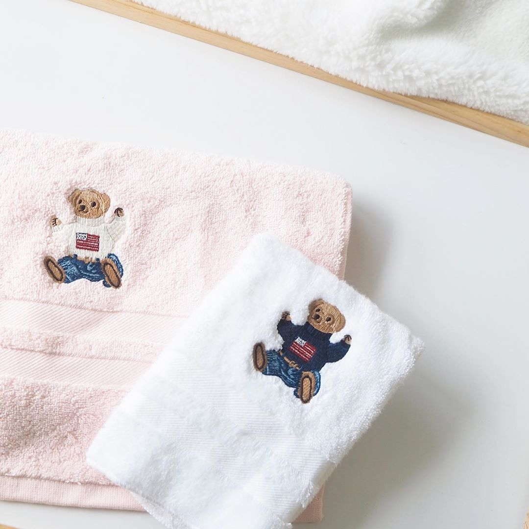 3▷ポロベアの愛くるしいタオルを