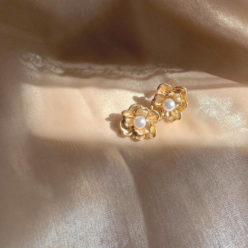 flower one point pierce / earring