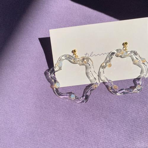 clear pierce / earring