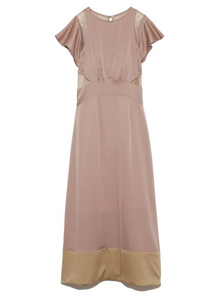 バックシャンレースドレス