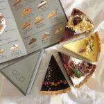 三角形の形をしたカフェに台形のプリン。○△□などの記号が用いられたお洒落cafe