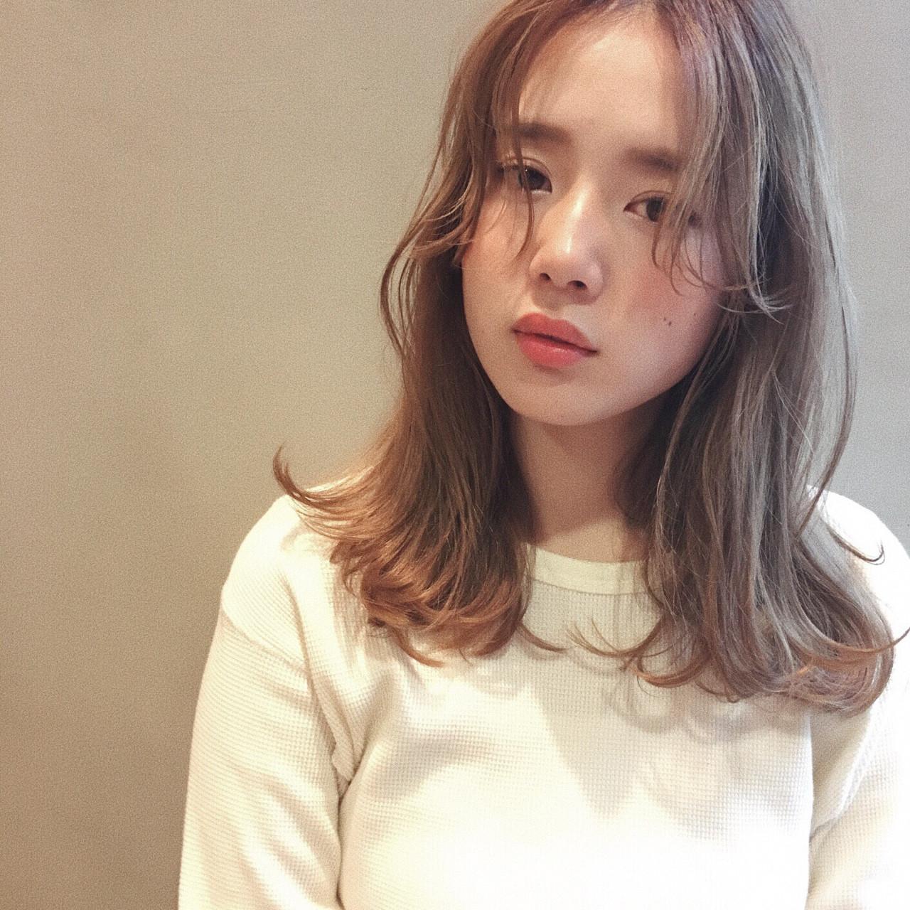 前髪なしスタイル