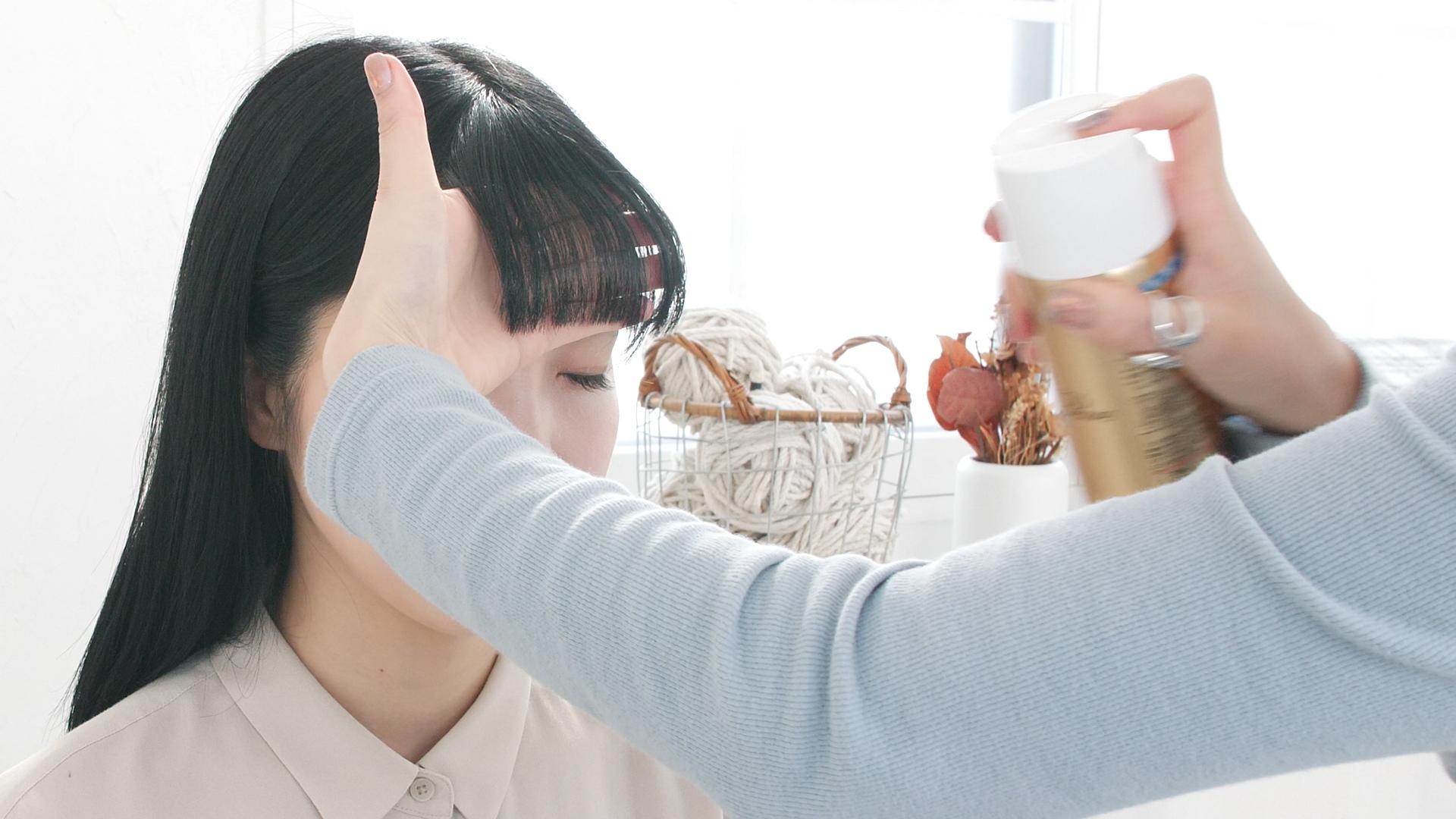 前髪をキープする方法
