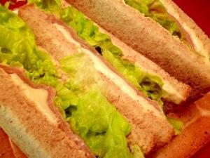 とろ~りモッツァレラとハムのサンドイッチ