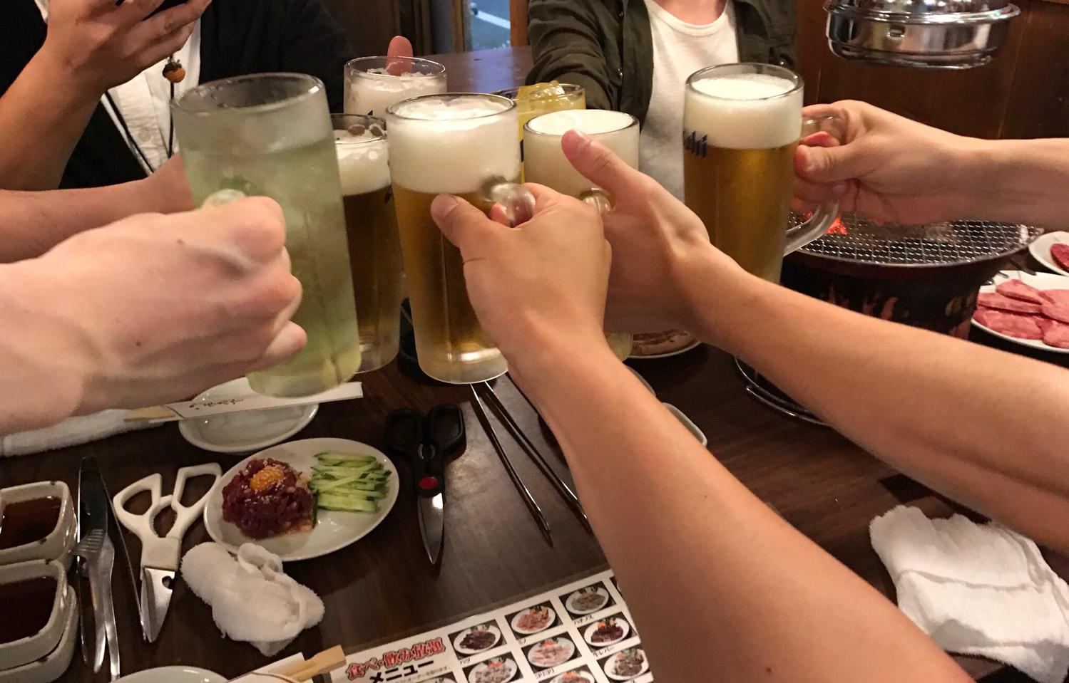 1.飲み会の出席はレア