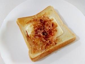 朝食に☆モッツァレラのおかかトースト