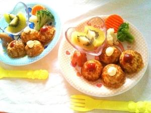 ケチャマヨたこ焼きの朝ご飯プレート♡