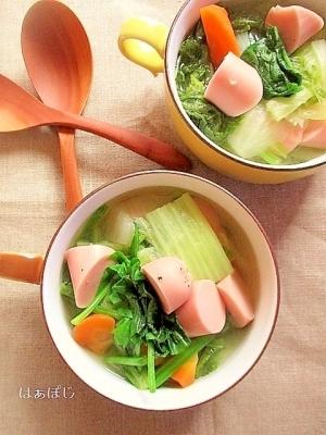 魚肉ソーセージの和風ポトフ