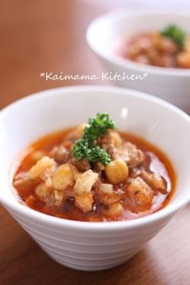 【簡単】野菜&お豆たっぷりミネストローネ