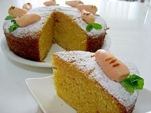 ホットケーキMXで簡単に 可愛い♪ にんじんケーキ