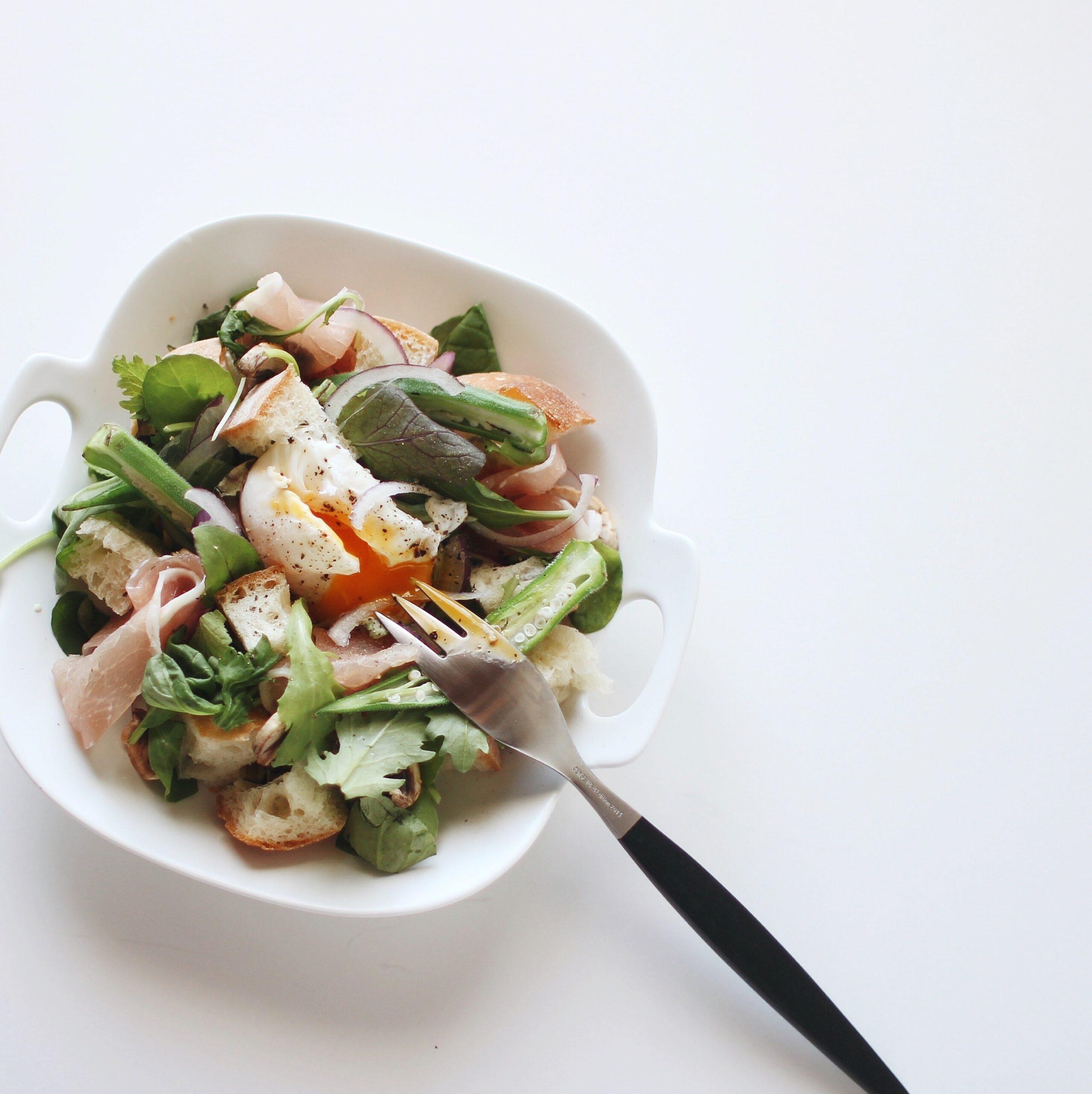 →ヘルシーなサラダの朝食はいかが?