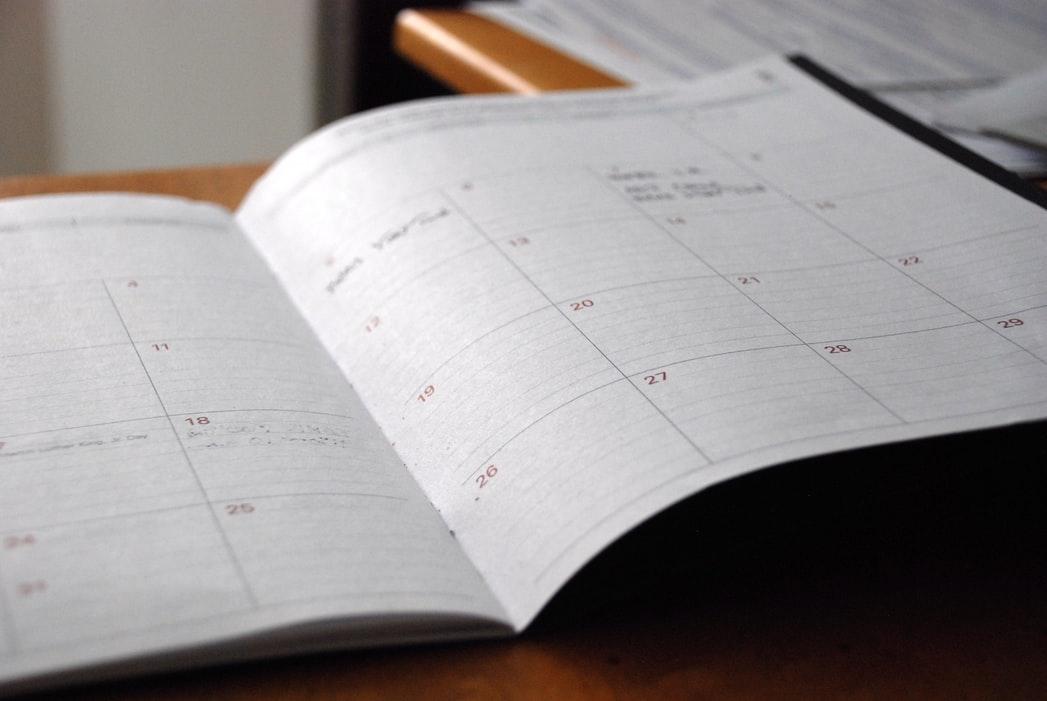 一ヶ月の予定を月のはじめにまとめてみよう