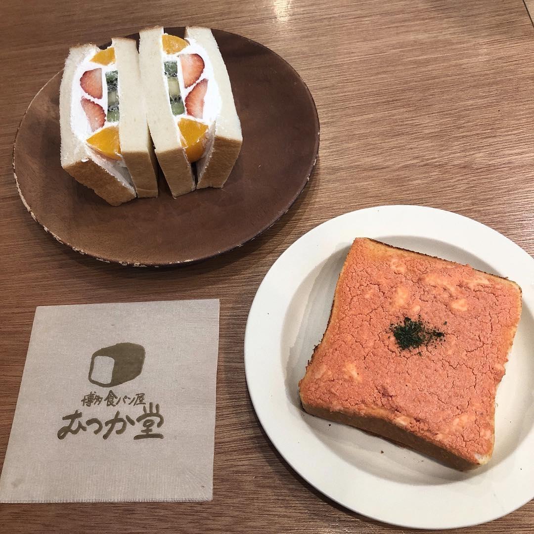 明太子たっぷりの贅沢トースト