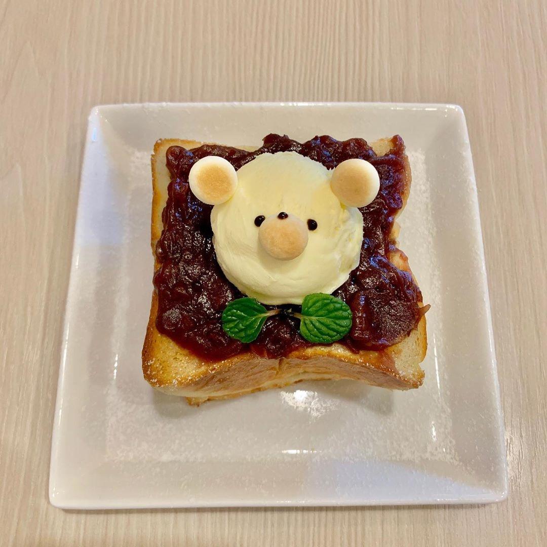 くまさんが可愛すぎる小倉トースト