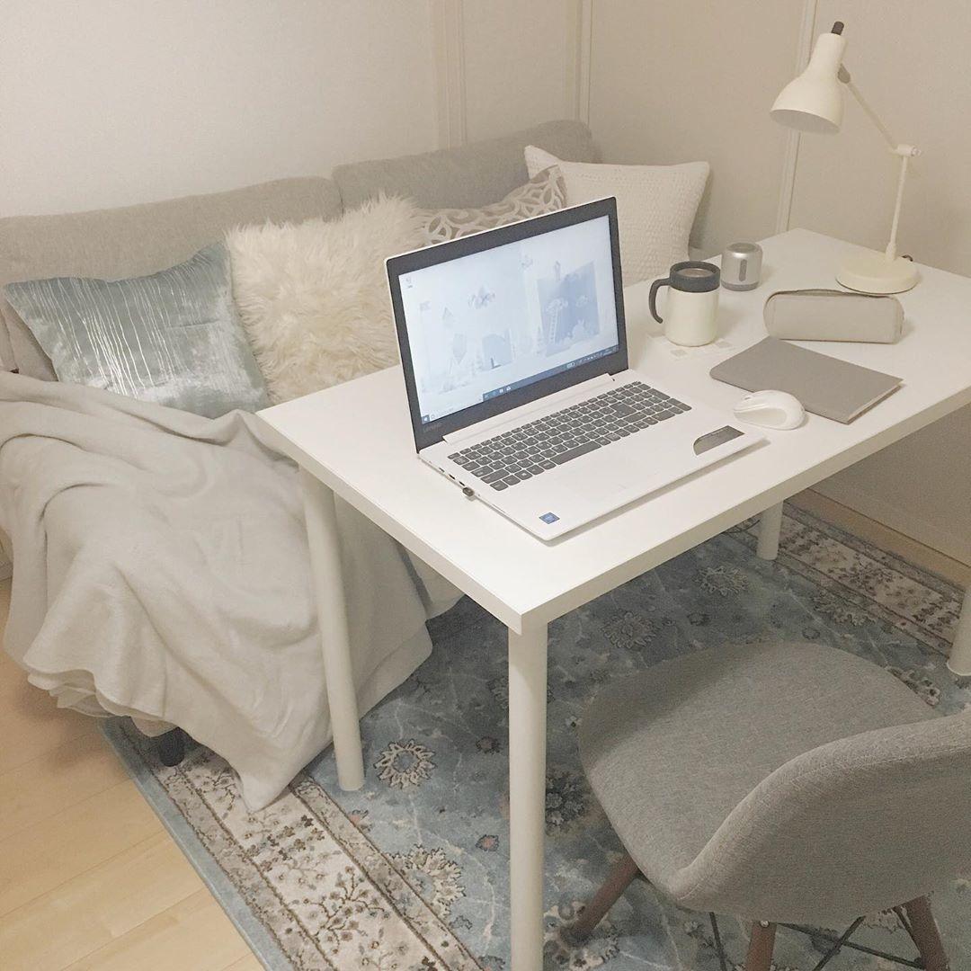 《白で統一》集中力UPのお洒落desk
