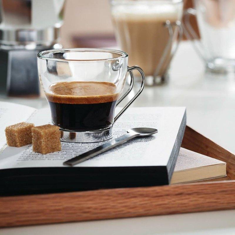 Bormioli Rocco Oslo series reinforced glass coffee cup three sizes