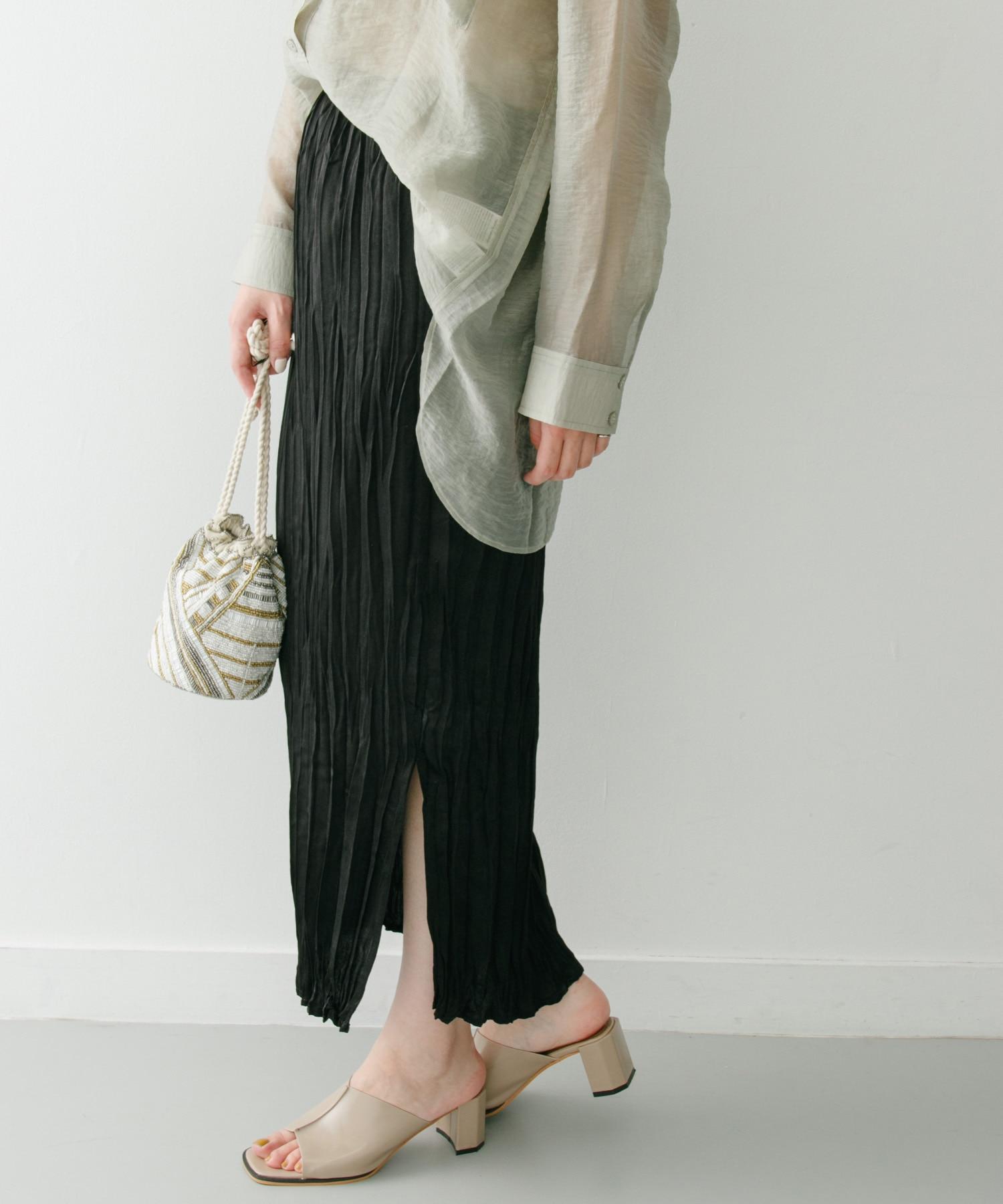 クリンクルIラインスカート