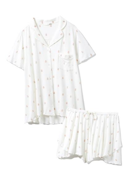 【セットアップ】ベアモチーフシャツ&ショートパンツSET