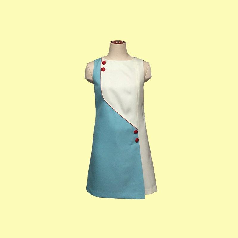 retro one-piece dress jeanne2 sleeveless
