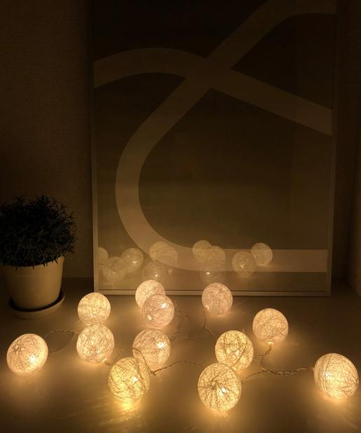 LEDコットンボールライト