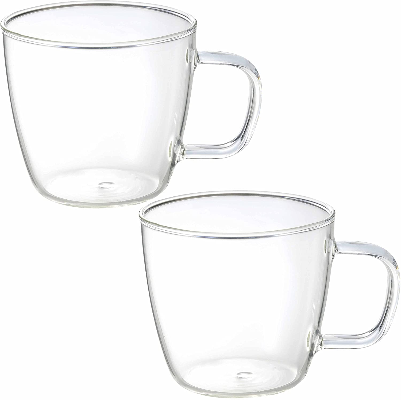 透明マグカップ 2個セット