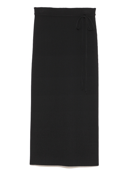 2wayスリットロングニットスカート