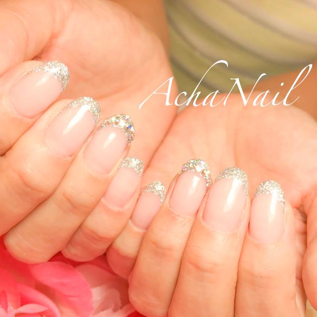 ちゅるんと可愛い♡aurora french nail