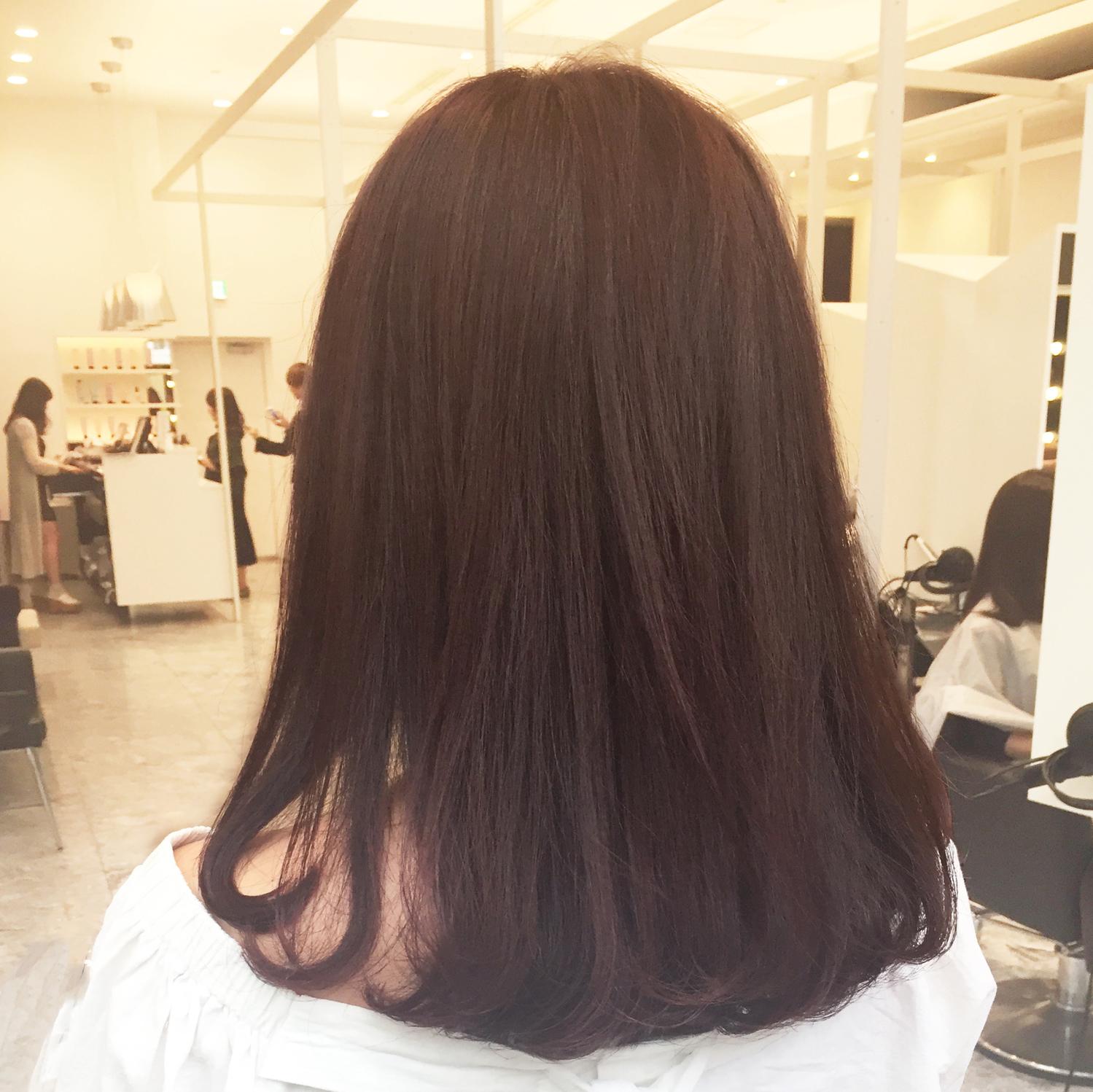 普段:ストレートヘア→巻き髪にチャレンジ