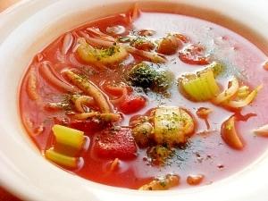 ポトフの残りスープでOK!もやし&トマト缶スープ♪