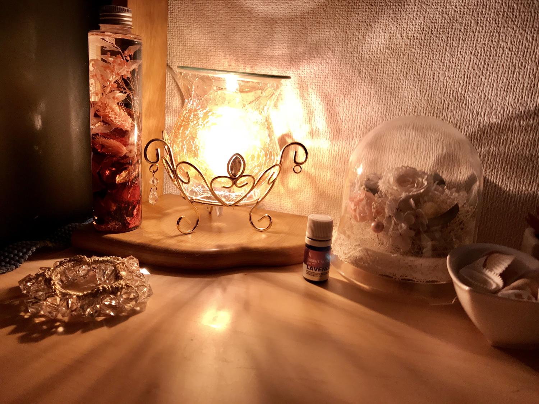 (4)ライトはアロマランプに