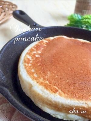 材料2つ‼️もっちり〜もちもち♪パンケーキ♡