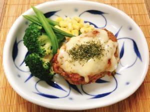 豆腐ハンバーグのとろ〜りチーズのせ