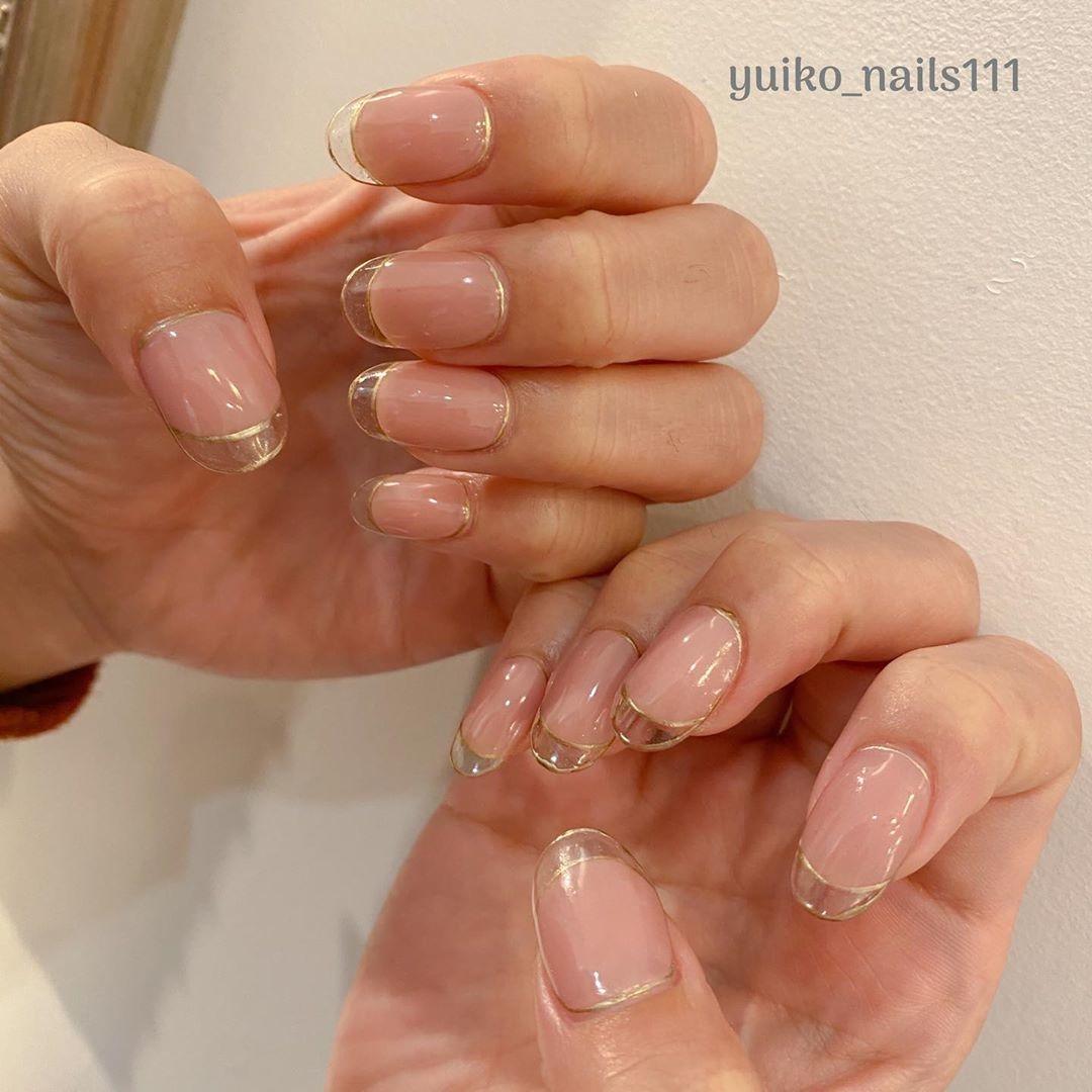 シンプル可愛い♡clear french nail