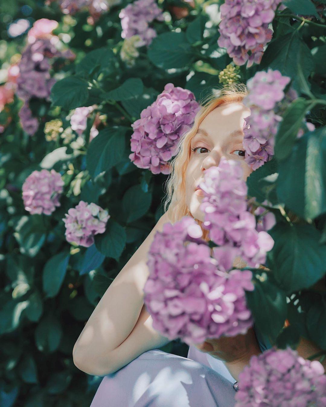 雨の日の可愛いは紫陽花を味方に♡